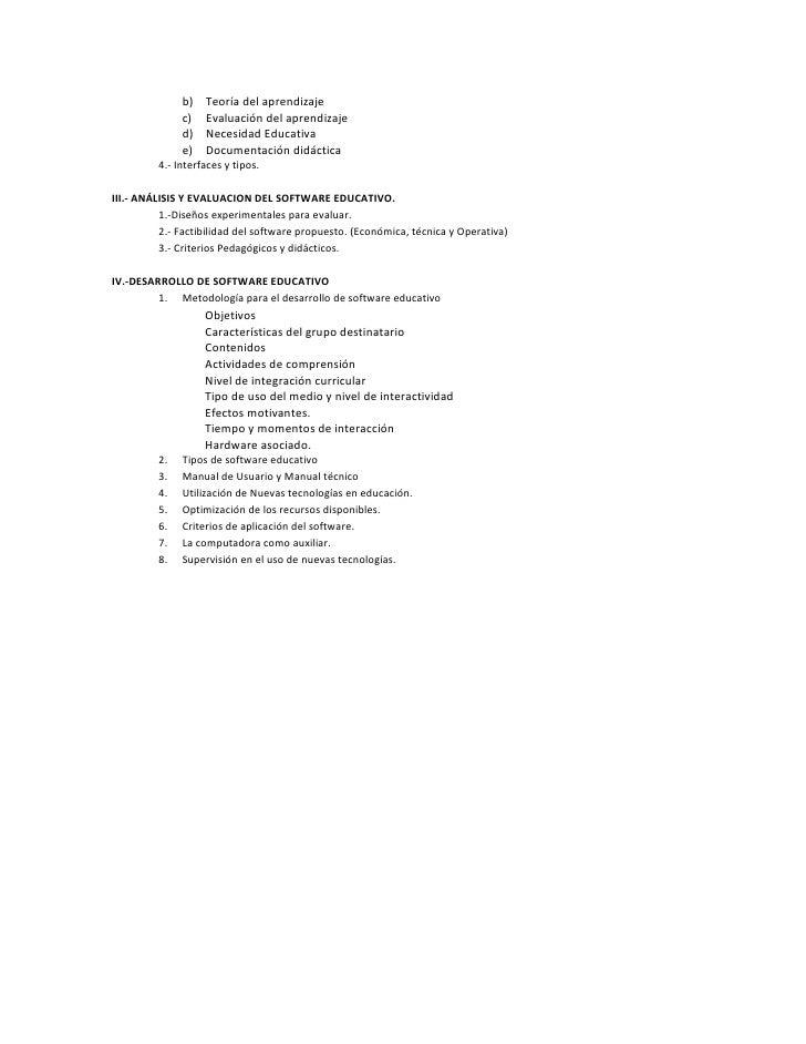 b)   Teoría del aprendizaje              c)   Evaluación del aprendizaje              d)   Necesidad Educativa            ...