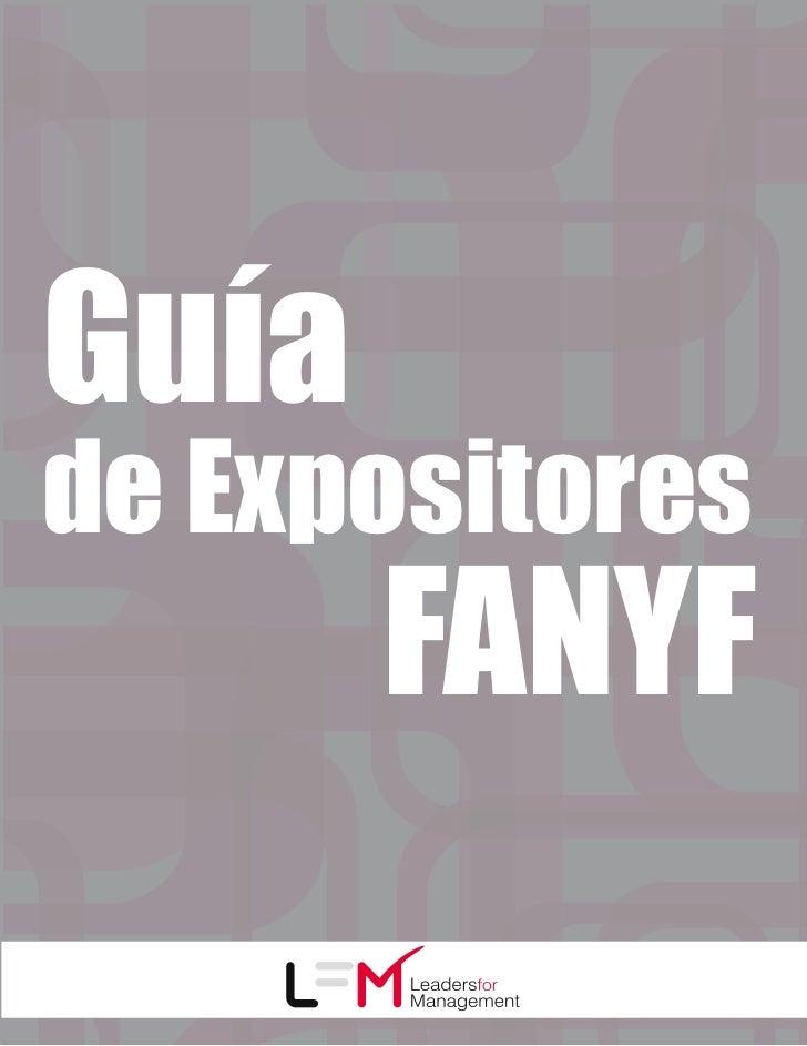 Guíade Expositores       FANYF
