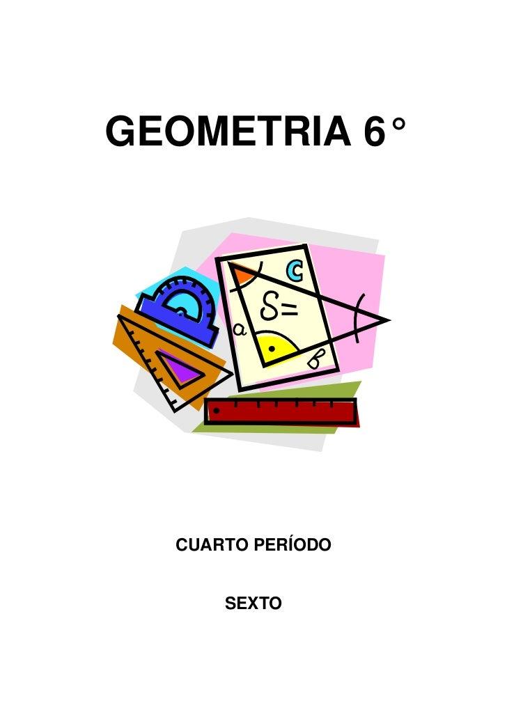 GEOMETRIA 6°<br />CUARTO PERÍODO<br />SEXTO<br />PROGRAMA<br />CIRCUNFERENCIA<br />POSICIONES DE UNA RECTA RESPECTO A LA C...