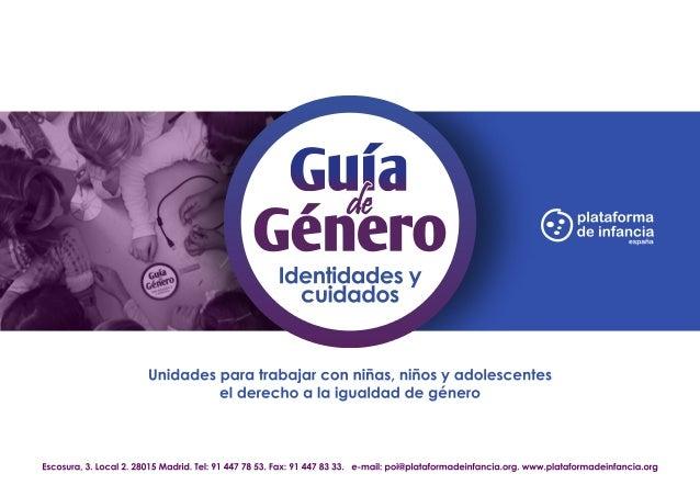 Guía de Género. Identidades y cuidados