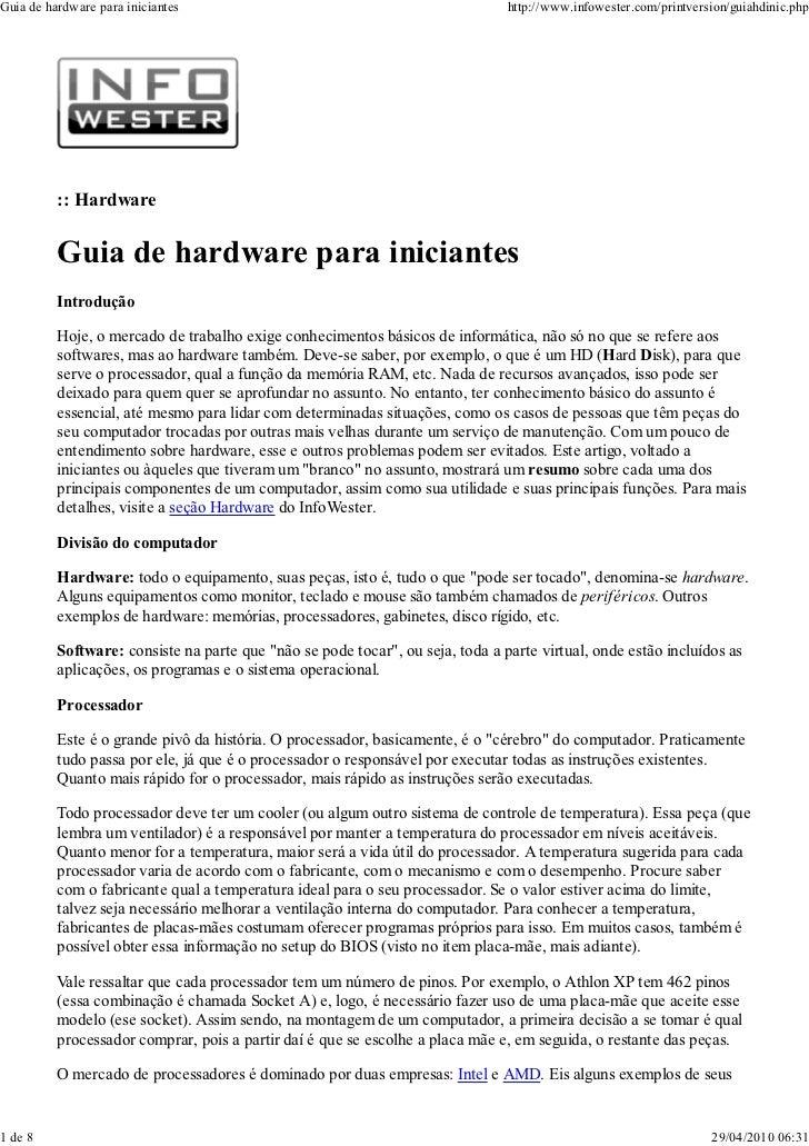 Guia de hardware para iniciantes                                                http://www.infowester.com/printversion/gui...