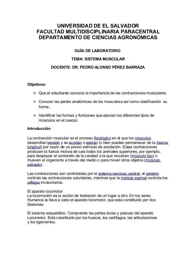 UNIVERSIDAD DE EL SALVADOR FACULTAD MULTIDISCIPLINARIA PARACENTRAL DEPARTAMENTO DE CIENCIAS AGRONÓMICAS GUÍA DE LABORATORI...