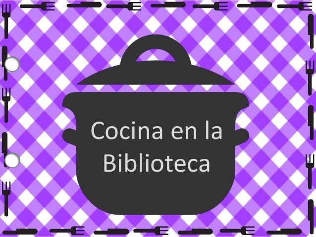 Cocina en la Biblioteca 1