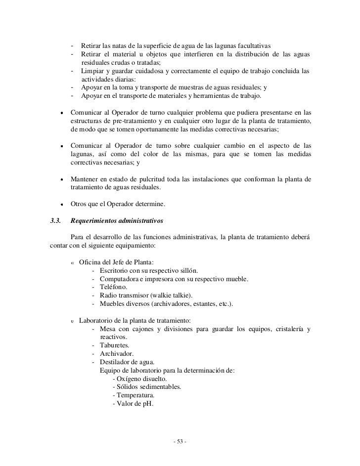Guia de mantenimiento y operacion laguna de oxidacion - Oficina de empleo la laguna ...