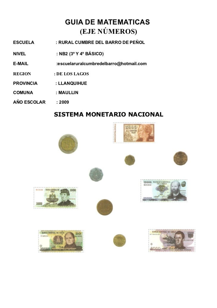 GUIA DE MATEMATICAS                       (EJE NÚMEROS) ESCUELA       : RURAL CUMBRE DEL BARRO DE PEÑOL  NIVEL          : ...