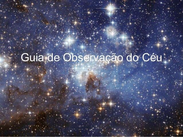 Guia de Observação do Céu