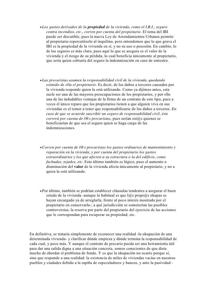 Guia de okupacion de la oficina de okupacion de bilbao for Cambio de uso de oficina a vivienda