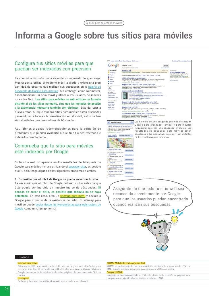 SEO para teléfonos móviles     Informa a Google sobre tus sitios para móviles     Configura tus sitios móviles para que   ...