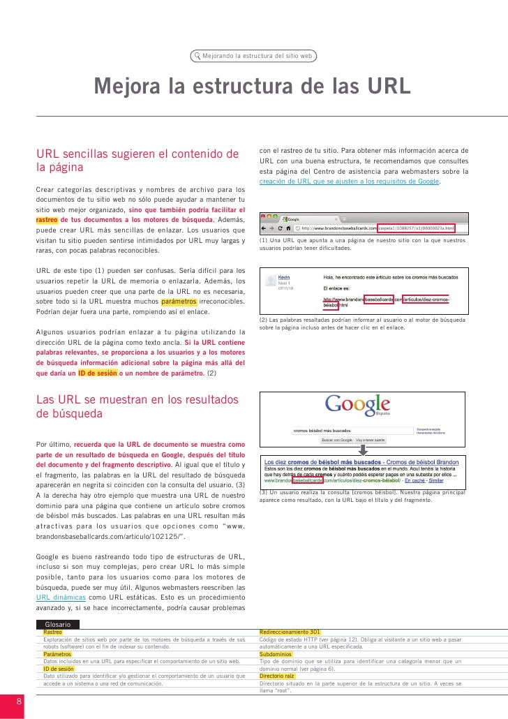 Mejorando la estructura del sitio web                          Mejora la estructura de las URL    URL sencillas sugieren e...
