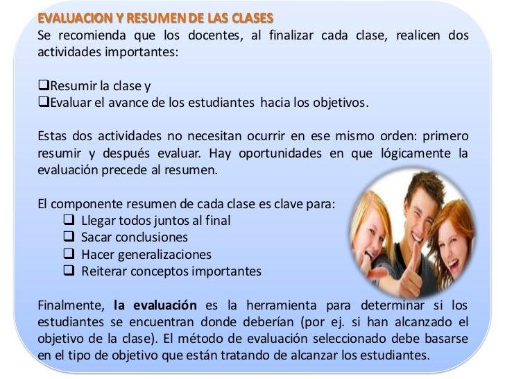 RESUMENResumiendo, el Plan de Clases siempre debe tratarde dar respuesta a las siguientes 3 preguntas: A dónde vamos y qu...