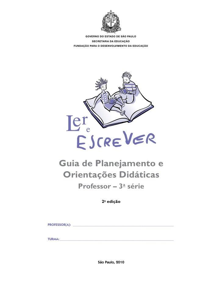 Guia de planejamento e orientações didáticas 4º ano
