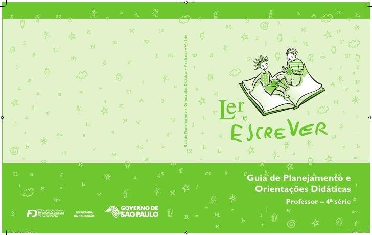 Guia de Planejamento e Orientações Didáticas – Professor – 4ª série                                                       ...