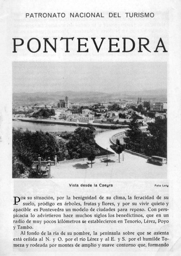 Guia de pontevedra años 30.