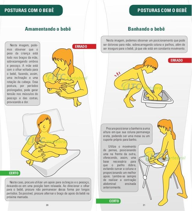 POSTURAS COM O BEBÊ POSTURAS COM O BEBÊ  Amamentando o bebê  ERRADO  Nesta imagem, podemos observar um posicionamento que ...