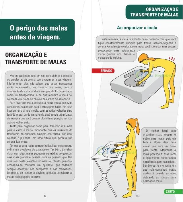 O perigo das malas  antes da viagem.  ORGANIZAÇÃO E  TRANSPORTE DE MALAS  Muitos pacientes relatam nos consultórios e clín...