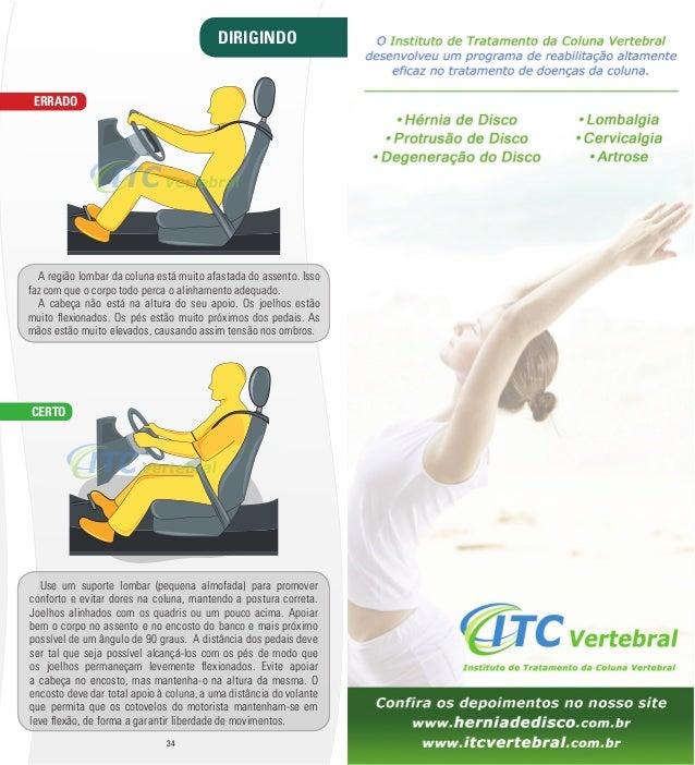 DIRIGINDO  A região lombar da coluna está muito afastada do assento. Isso  faz com que o corpo todo perca o alinhamento ad...
