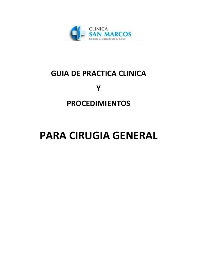 Guia de practica clinica cirugia