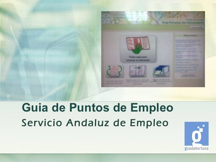 Guia de Puntos de Empleo Servicio Andaluz de Empleo