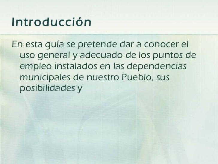 Guia de puntos de empleo Guadalinfo Slide 2