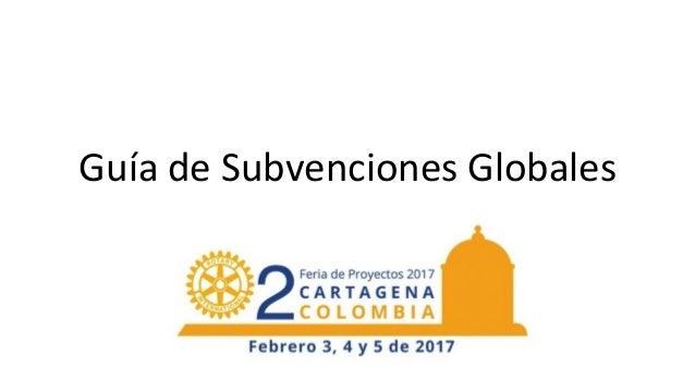 Guía  de  Subvenciones  Globales
