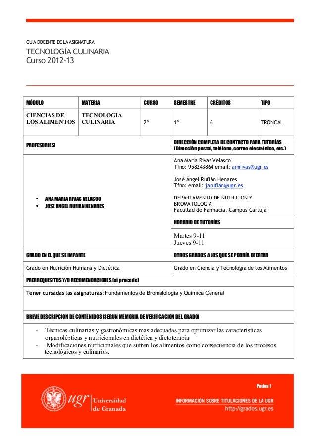 Guia de temario de cocina 2013 for Guia mecanica de cocina pdf