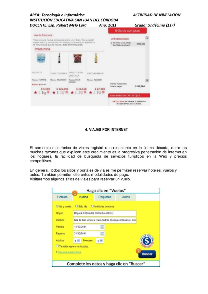 AREA: Tecnología e Informática                               ACTIVIDAD DE NIVELACIÓNINSTITUCIÓN EDUCATIVA SAN JUAN DEL CÓR...