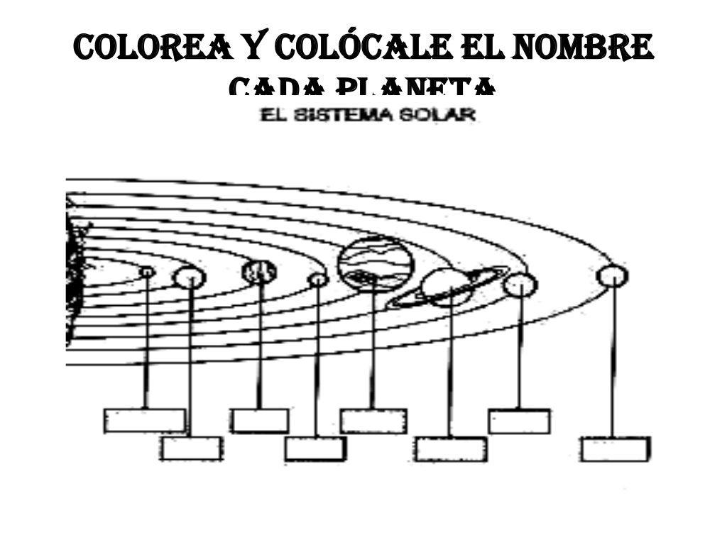 Lujoso Nueve Planetas Para Colorear Patrón - Enmarcado Para Colorear ...