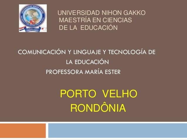 UNIVERSIDAD NIHON GAKKO           MAESTRÍA EN CIENCIAS           DE LA EDUCACIÓNCOMUNICACIÓN Y LINGUAJE Y TECNOLOGÍA DE   ...