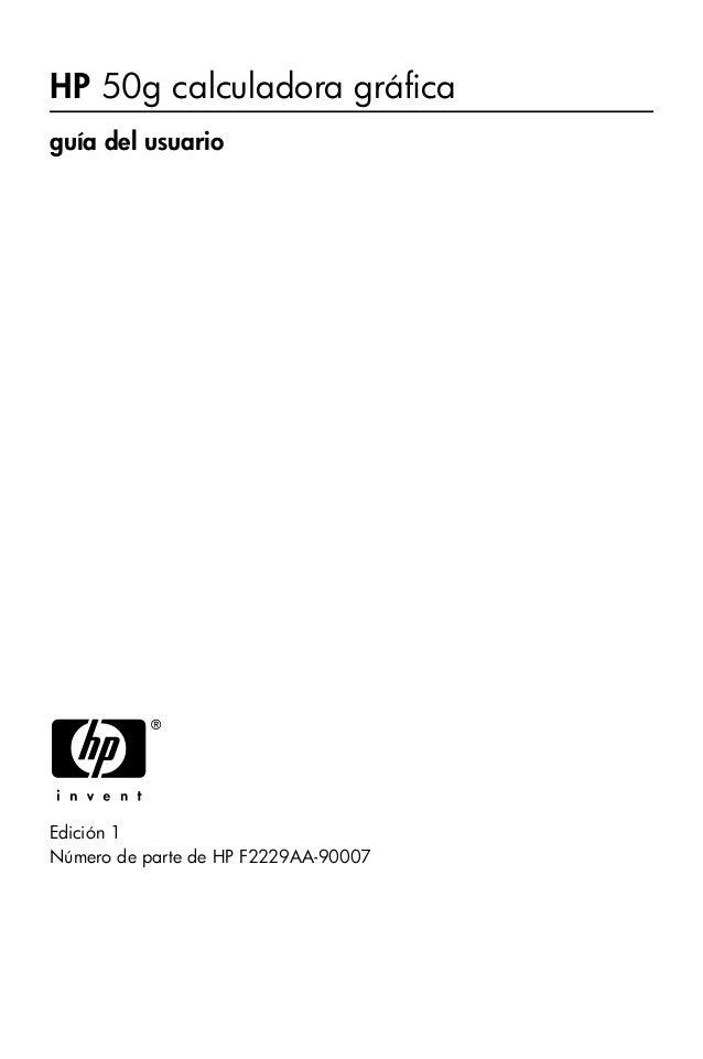 guia de usuario hp 50g rh slideshare net HP 50G Tutorial HP 50G For Dummies