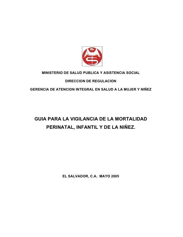 MINISTERIO DE SALUD PUBLICA Y ASISTENCIA SOCIAL                  DIRECCION DE REGULACION  GERENCIA DE ATENCION INTEGRAL EN...