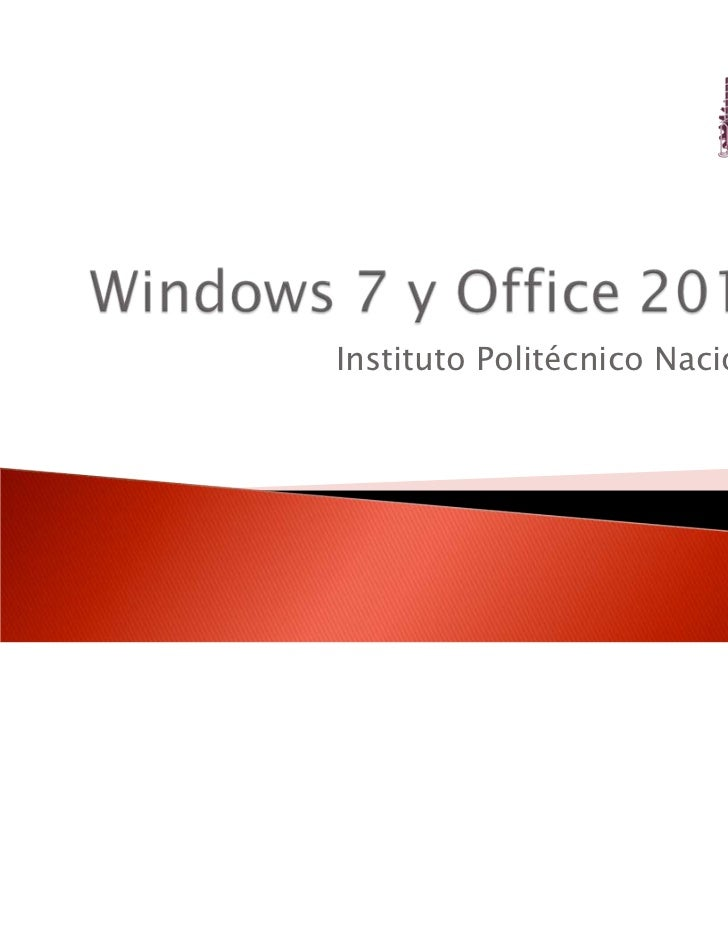 Guiadewindows7yoffice2010 110401113513 phpapp01 for Windows 7 bureau vide