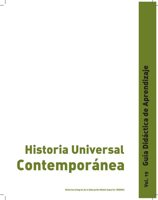 GUÍA DIDÁCTICA DE APRENDIZAJE                                                                    HISTORIA UNIVERSAL CONTEM...