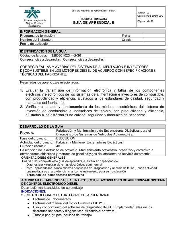 Sistema Integrado deMejora ContinuaInstitucionalServicio Nacional de Aprendizaje - SENAREGIONA RISARALDAGUÍA DE APRENDIZAJ...