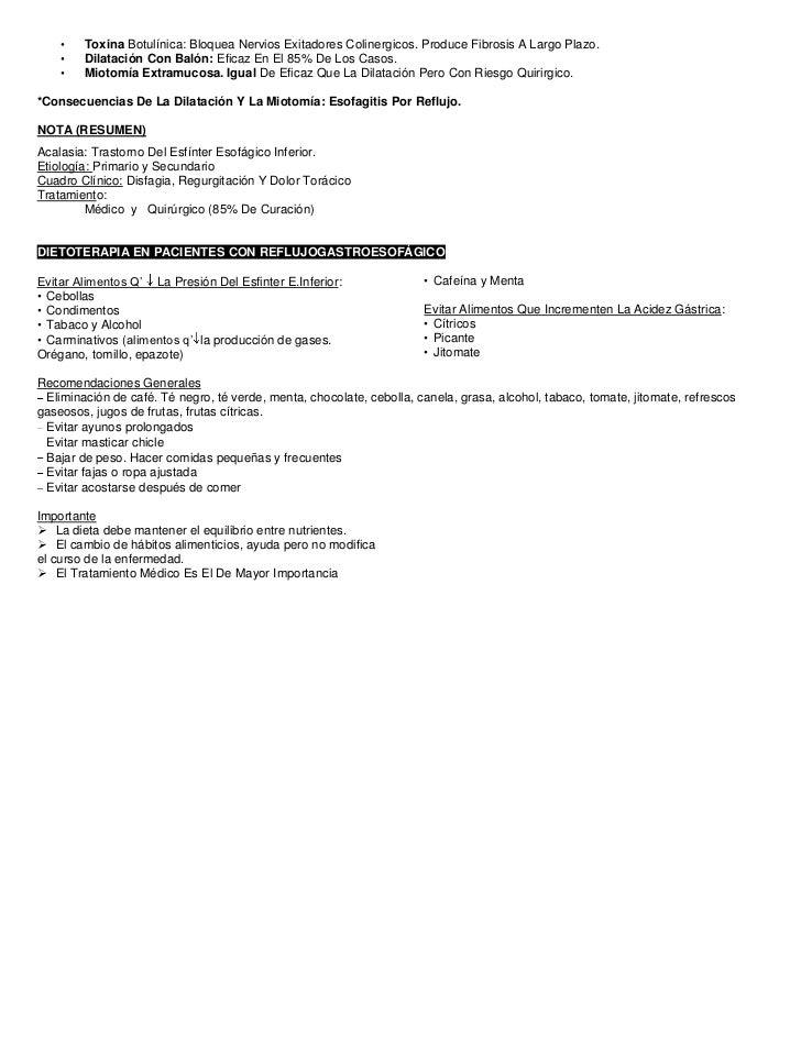 •   Toxina Botulínica: Bloquea Nervios Exitadores Colinergicos. Produce Fibrosis A Largo Plazo.    •   Dilatación Con Baló...