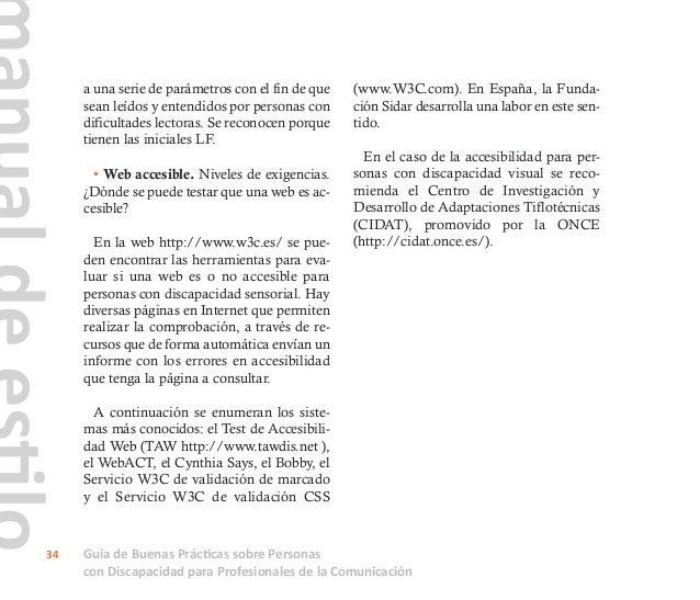 Guía de Buenas Prácticas sobre Personas con Discapacidad para Profesionales de la Comunicación 35 7. Consulta rápida. ¿Qué...