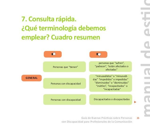"""Guía de Buenas Prácticas sobre Personas con Discapacidad para Profesionales de la Comunicación 36 """"participación"""" GENERAL ..."""