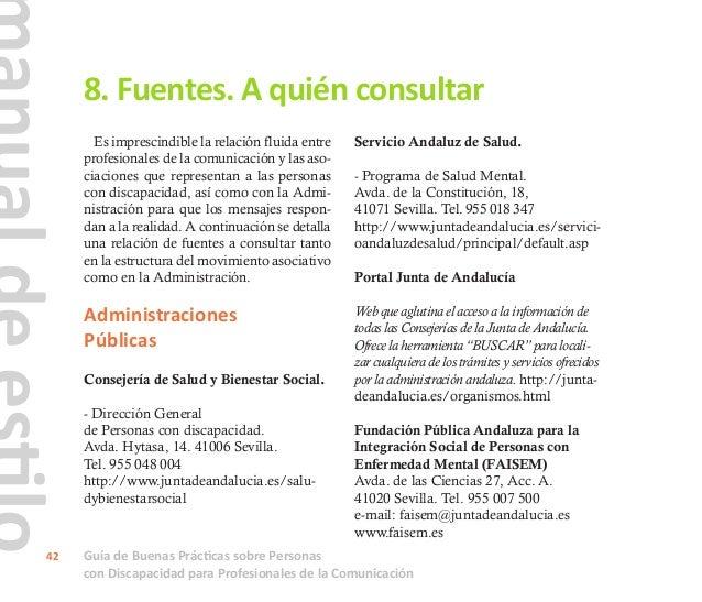 Guía de Buenas Prácticas sobre Personas con Discapacidad para Profesionales de la Comunicación 43 Movimiento Asociativo Co...