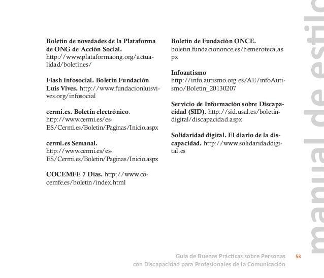 Catálogo de recomendaciones para el tratamiento no sexista y no discriminatorio de las mujeres con discapacidad en la publ...
