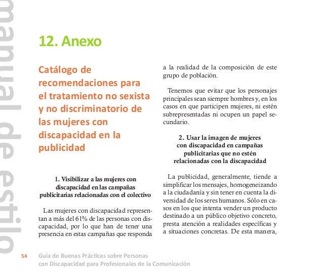 Guía de Buenas Prácticas sobre Personas con Discapacidad para Profesionales de la Comunicación 55 imagen que se ofrece hab...