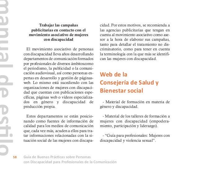 """- """"Autodiagnóstico de las mujeres con discapacidad en Andalucía"""". - """"Mujeres con discapacidad en la histo- ria"""". - Guía """"M..."""