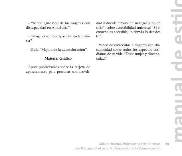 Guía de Buenas Prácticas sobre Personas con Discapacidad para Profesionales de la Comunicación 60 VV.AA., 'Periodismo Soci...