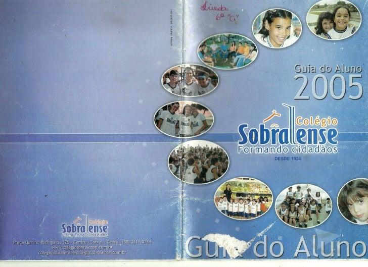 Guia do aluno   colégio sobralense - 2005