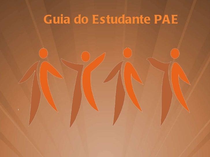 Guia do Estudante PAE