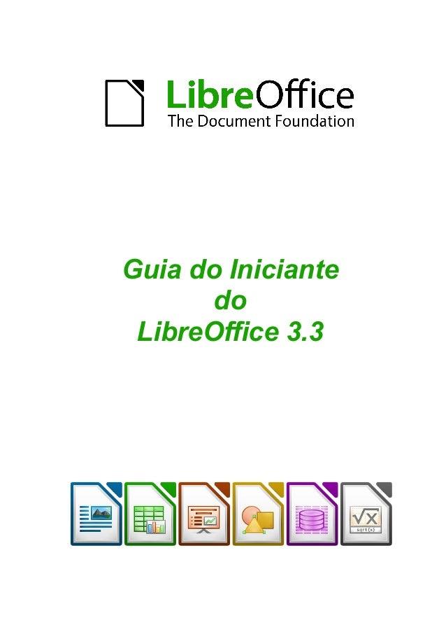 Guia do Iniciante do LibreOffice 3.3