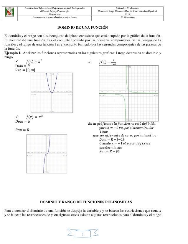 Institución Educativa Departamental Integrada  Alfonso López Pumarejo  Nemocón  Cálculo; Undécimo  Docente: Ing. Hernán Da...