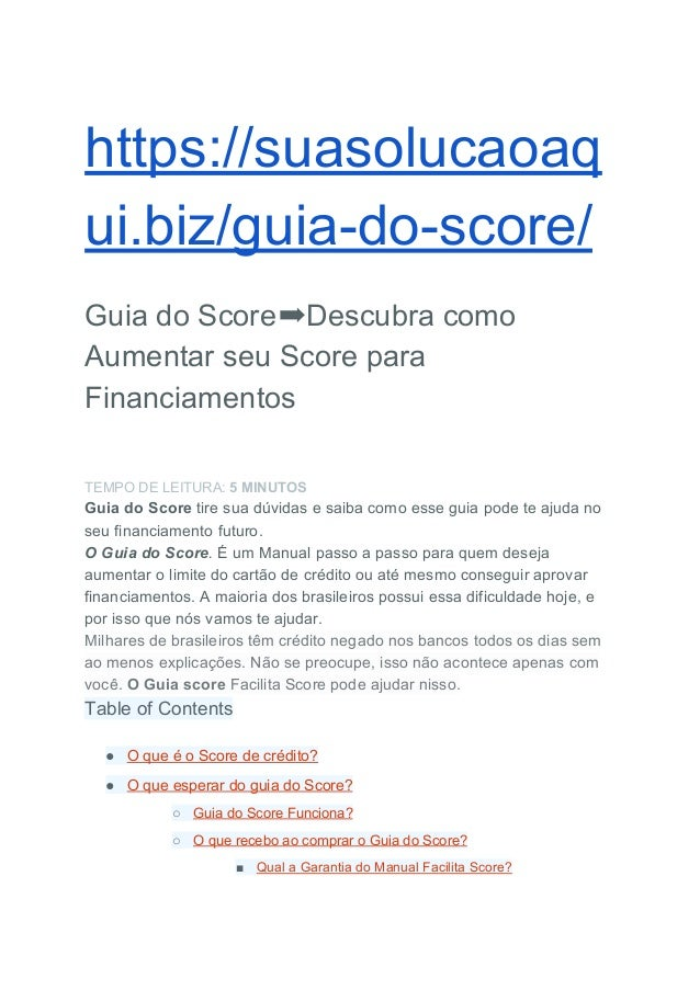 manual do score canal julia faria
