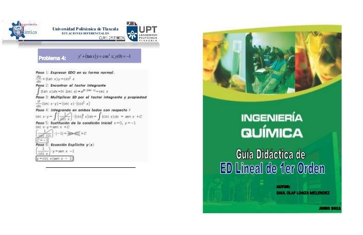 Universidad Politécnica de Tlaxcala         ECUACIONES DIFERENCIALES                                                      ...