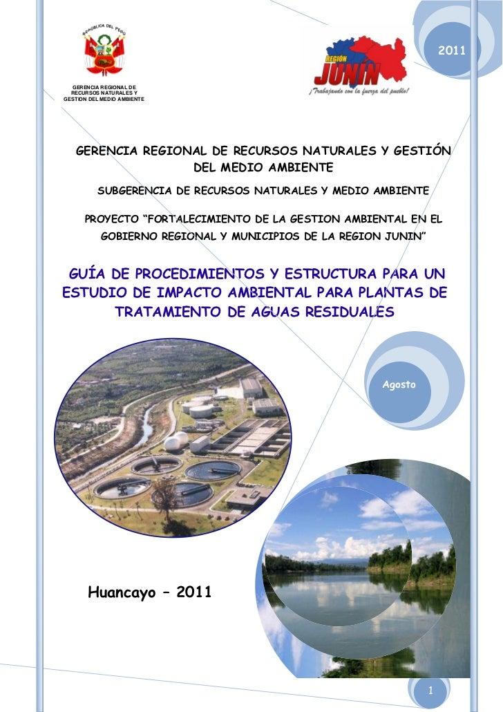 2011  GERENCIA REGIONAL DE  RECURSOS NATURALES YGESTION DEL MEDIO AMBIENTE   GERENCIA REGIONAL DE RECURSOS NATURALES Y GES...