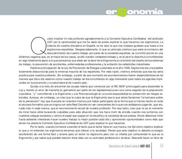 Guia ergonomia ergonomia en los sistemas de trabajo ugt for Para que sirve la ergonomia