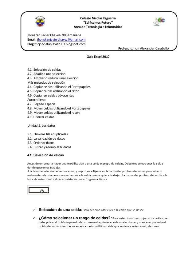 """Colegio Nicolas Esguerra """"Edificamos Futuro"""" Area de Tecnología e Informática Jhonatan Javier Chavez- 903J.mañana Email: j..."""
